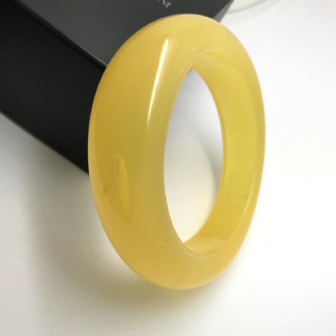Vintage bangle bracelet amber design bakelite 63.9 gr - 2