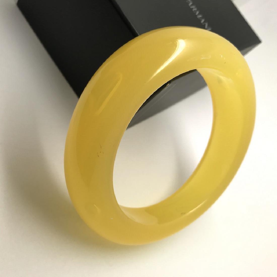 Vintage bangle bracelet amber design bakelite 63.9 gr - 3