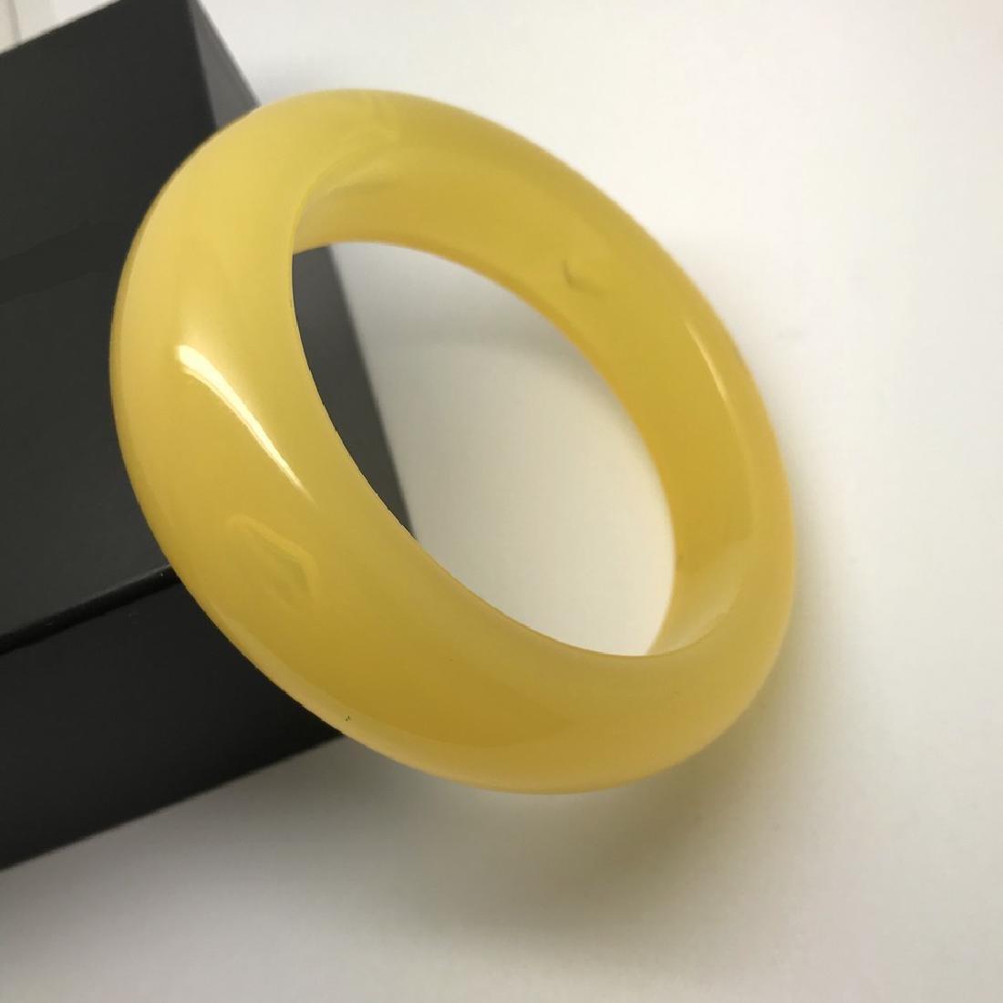 Vintage bangle bracelet amber design bakelite 63.9 gr - 5
