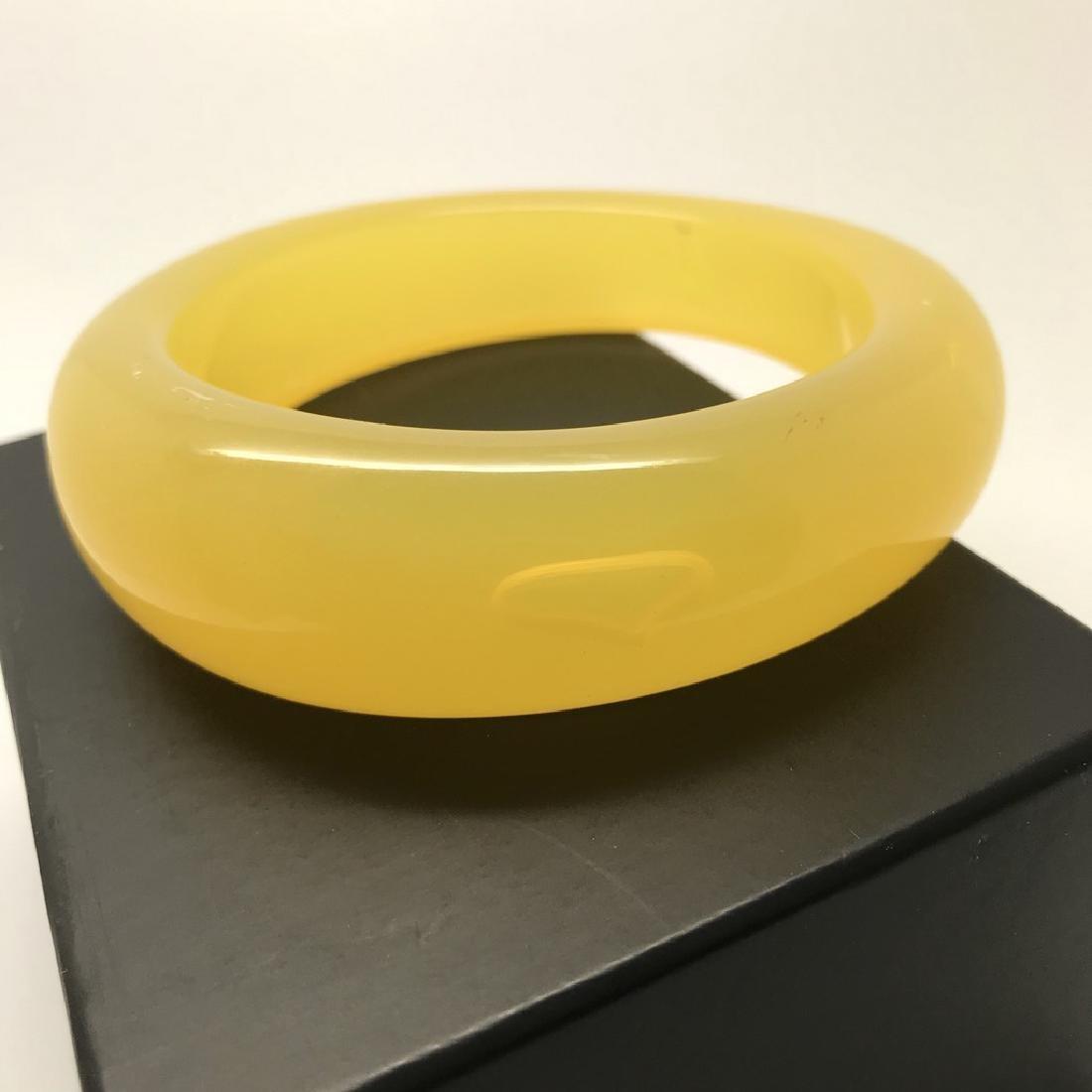 Vintage bangle bracelet amber design bakelite 63.9 gr - 6