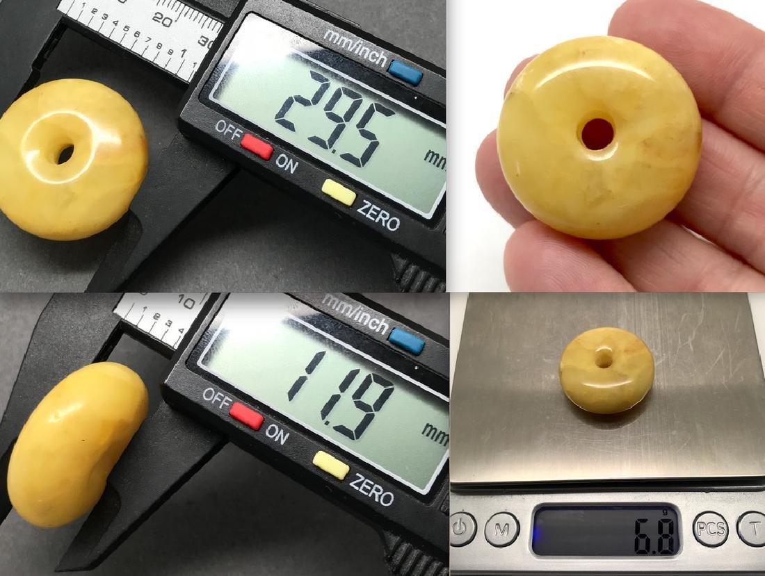 Baltic amber doughnut pendant bead ø3cm