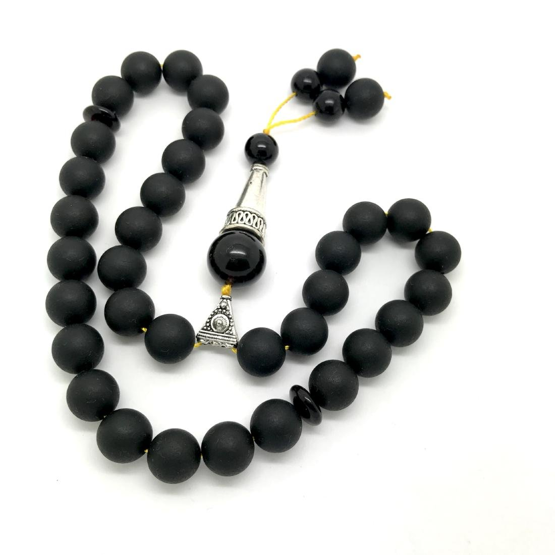 Misbaha tesbih Baltic amber black 33 beads ø10mm 27 - 3