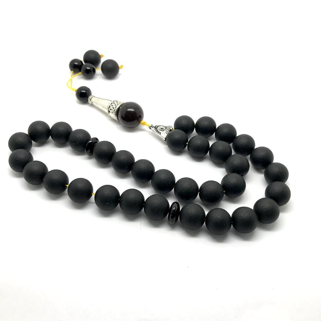 Misbaha tesbih Baltic amber black 33 beads ø10mm 27 - 9