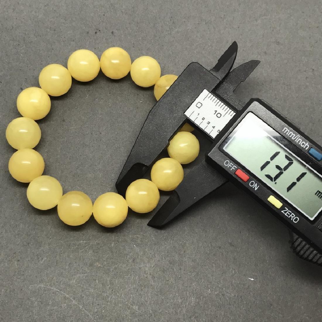 Bracelet Baltic amber butter colour beads ø13mm 18.1 - 5