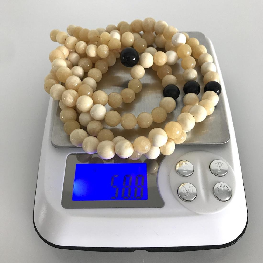 Japa mala necklace Baltic amber cream beads ø9mm 58.8 - 3