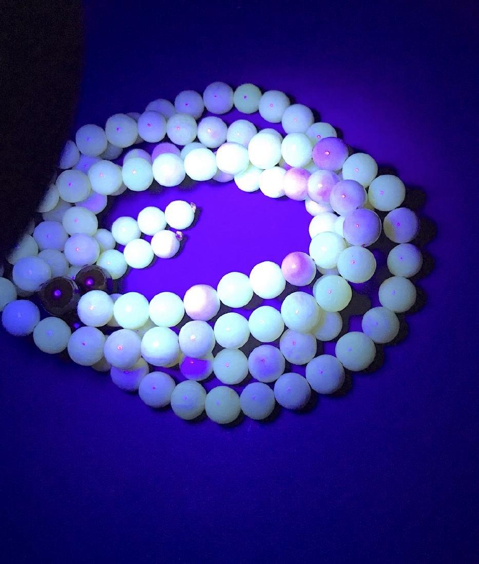 Japa mala necklace Baltic amber cream beads ø9mm 58.8 - 5