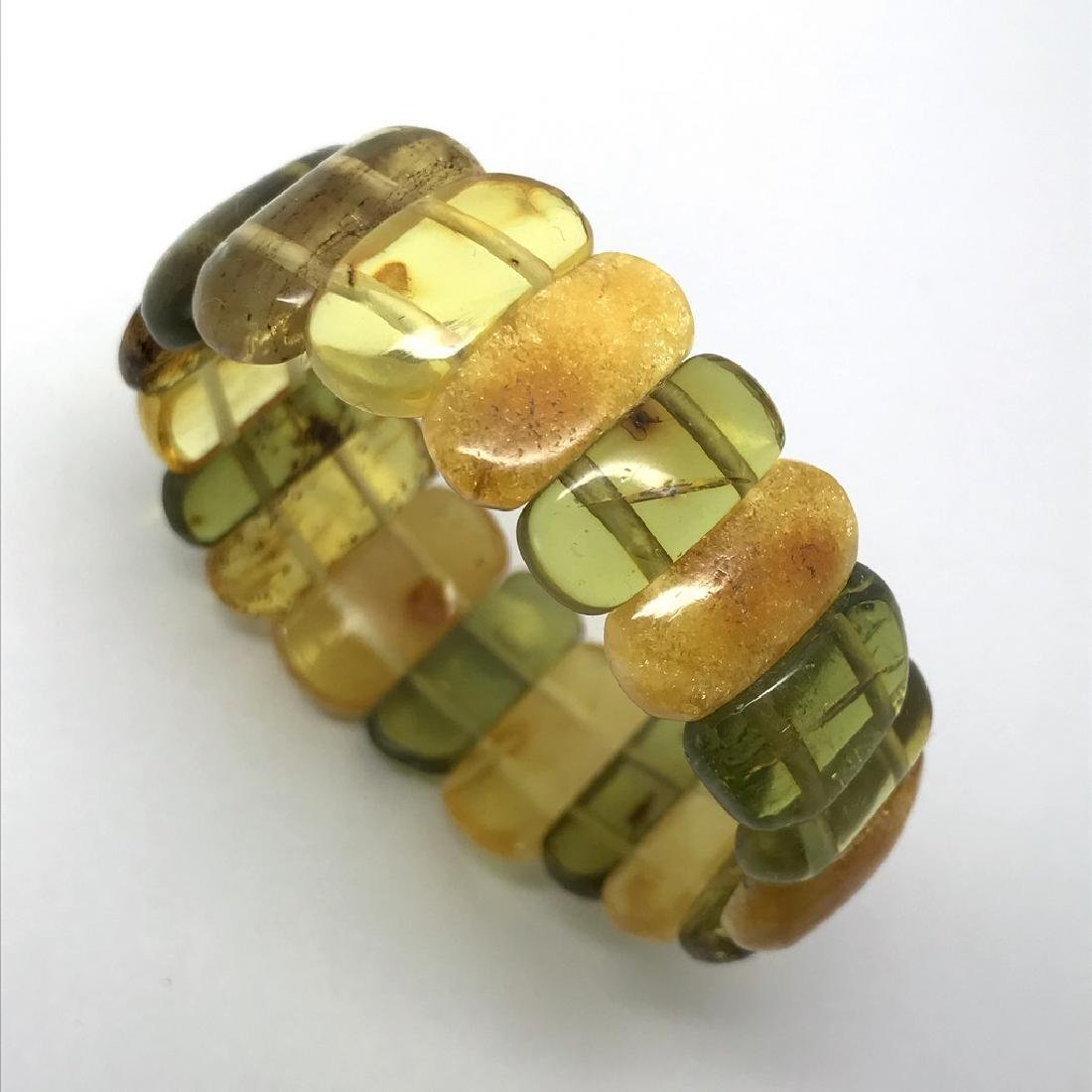Vintage Bracelet Baltic amber cut cabochons, 19.7 grams - 2