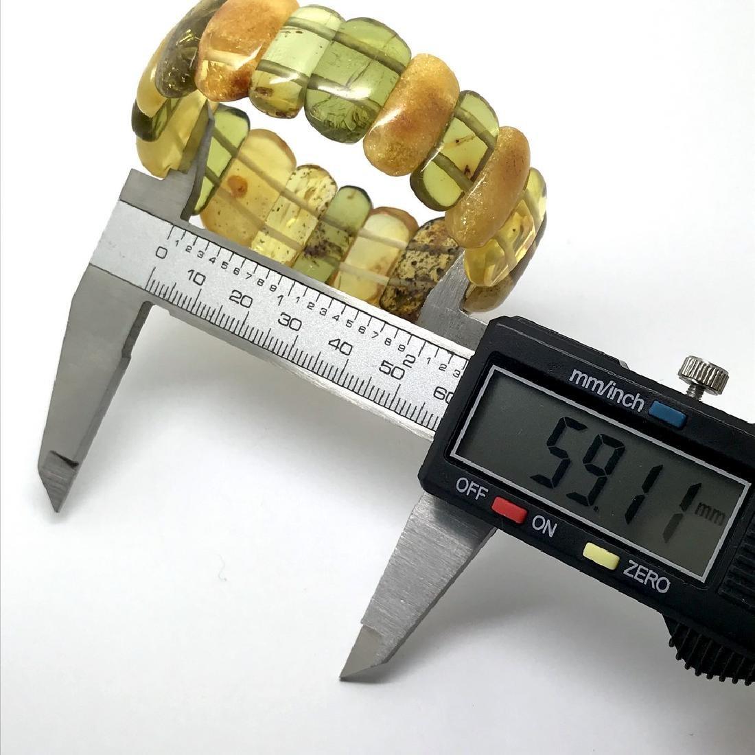 Vintage Bracelet Baltic amber cut cabochons, 19.7 grams - 5