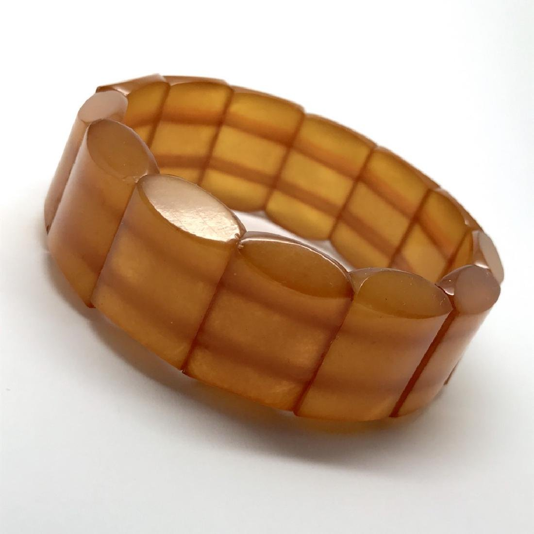 Antique art deco bracelet Baltic amber toffee 25mm 29.2 - 3