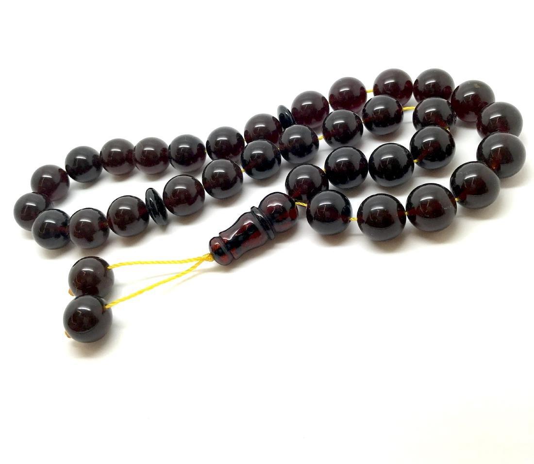 Misbaha tesbih Baltic amber cherry 33 beads ø11.5mm