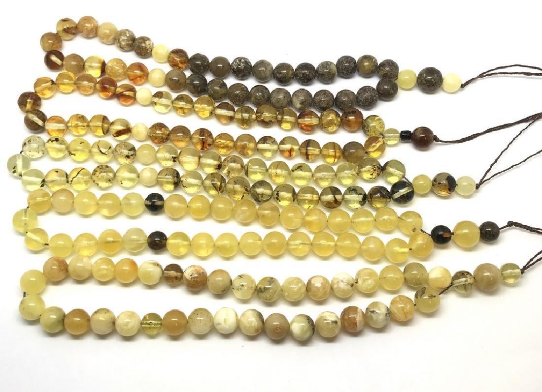 5x tesbih Baltic amber cherry 33 beads ø8-8.5mm 56.4