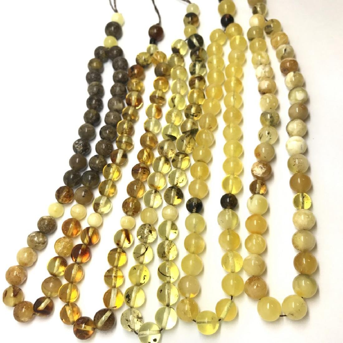 5x tesbih Baltic amber cherry 33 beads ø8-8.5mm 56.4 - 2