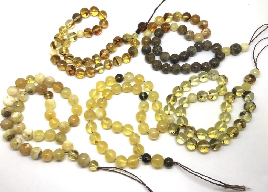 5x tesbih Baltic amber cherry 33 beads ø8-8.5mm 56.4 - 4