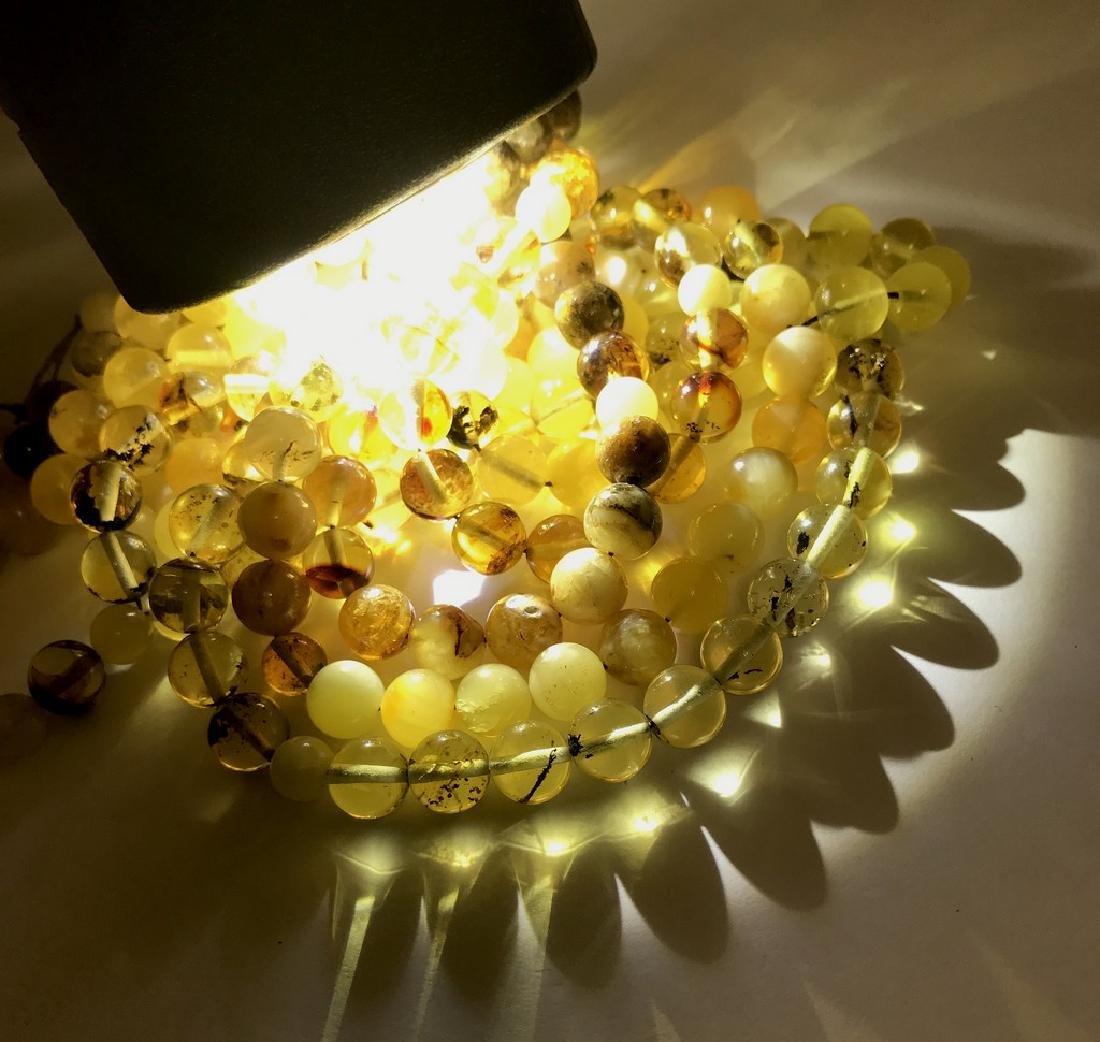 5x tesbih Baltic amber cherry 33 beads ø8-8.5mm 56.4 - 5