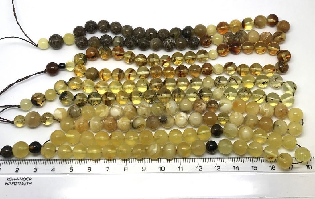 5x tesbih Baltic amber cherry 33 beads ø8-8.5mm 56.4 - 6