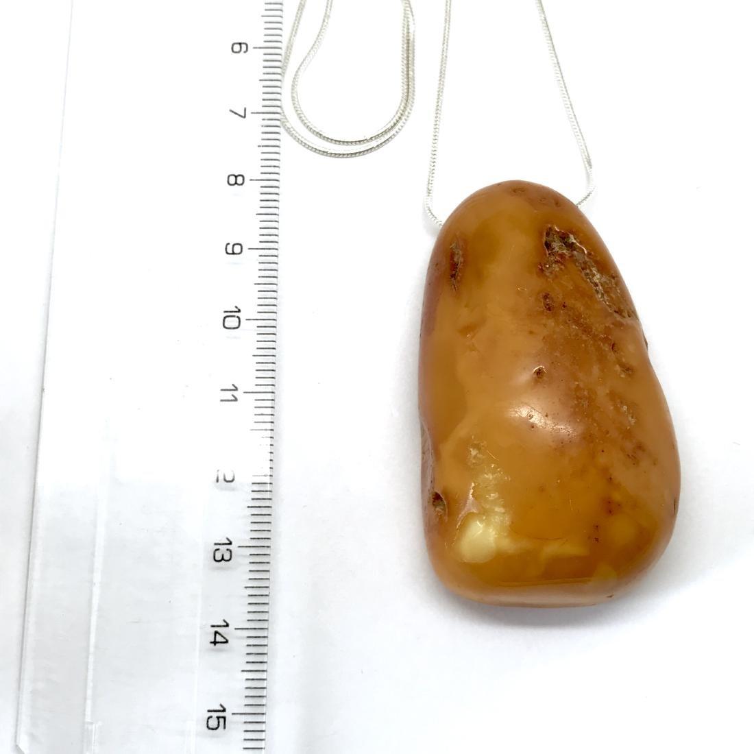 Antique Baltic amber pendant amulet 57x32x20mm - 2