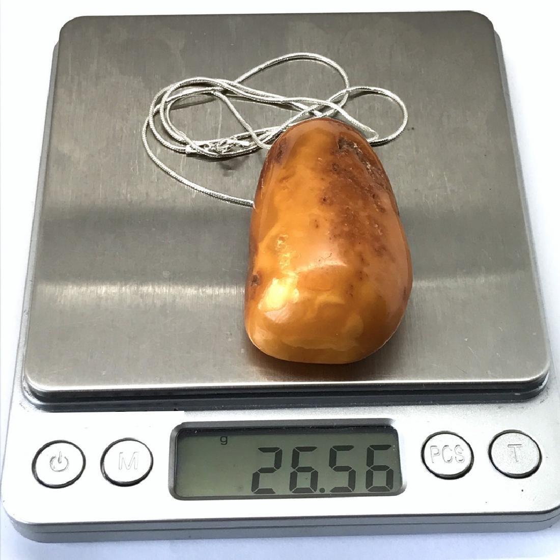 Antique Baltic amber pendant amulet 57x32x20mm - 8
