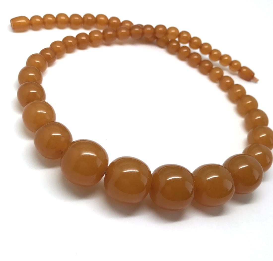 Antique necklace Baltic amber toffee beads ø8-19mm 54cm - 4