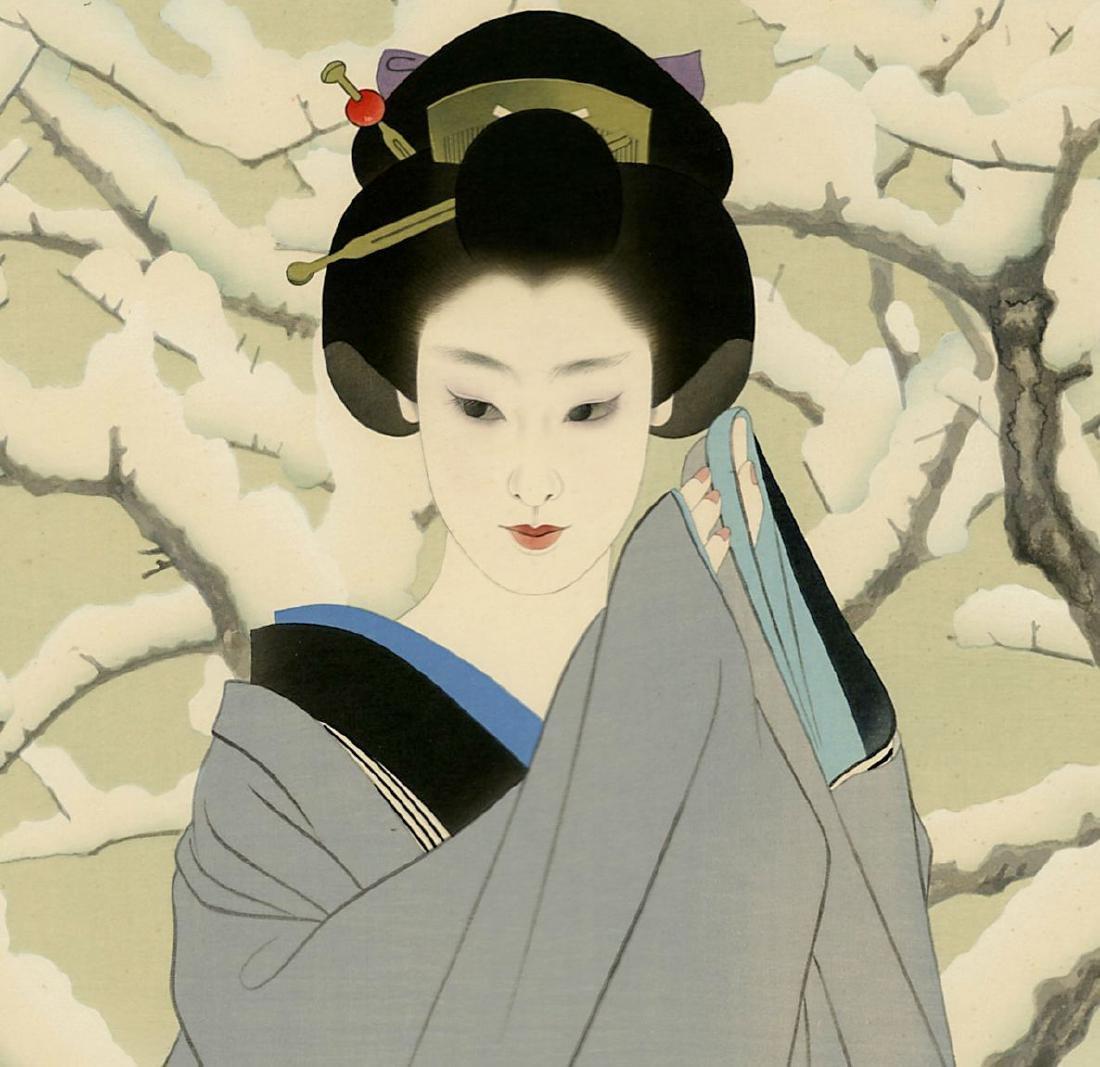Shimira Tatsumi Woodblock Snow - 2