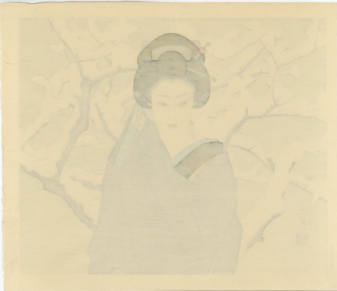 Shimira Tatsumi Woodblock Snow - 3