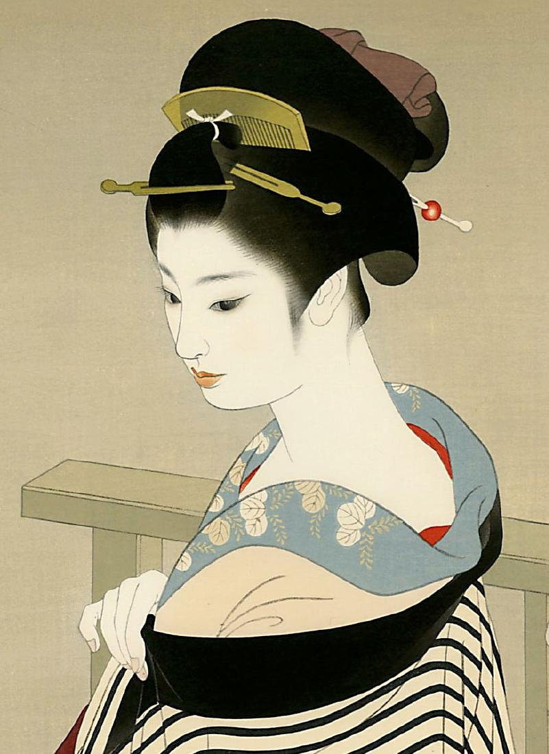 Shimira Tatsumi Woodblock Maiko - 2