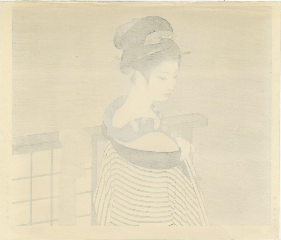 Shimira Tatsumi Woodblock Maiko - 3