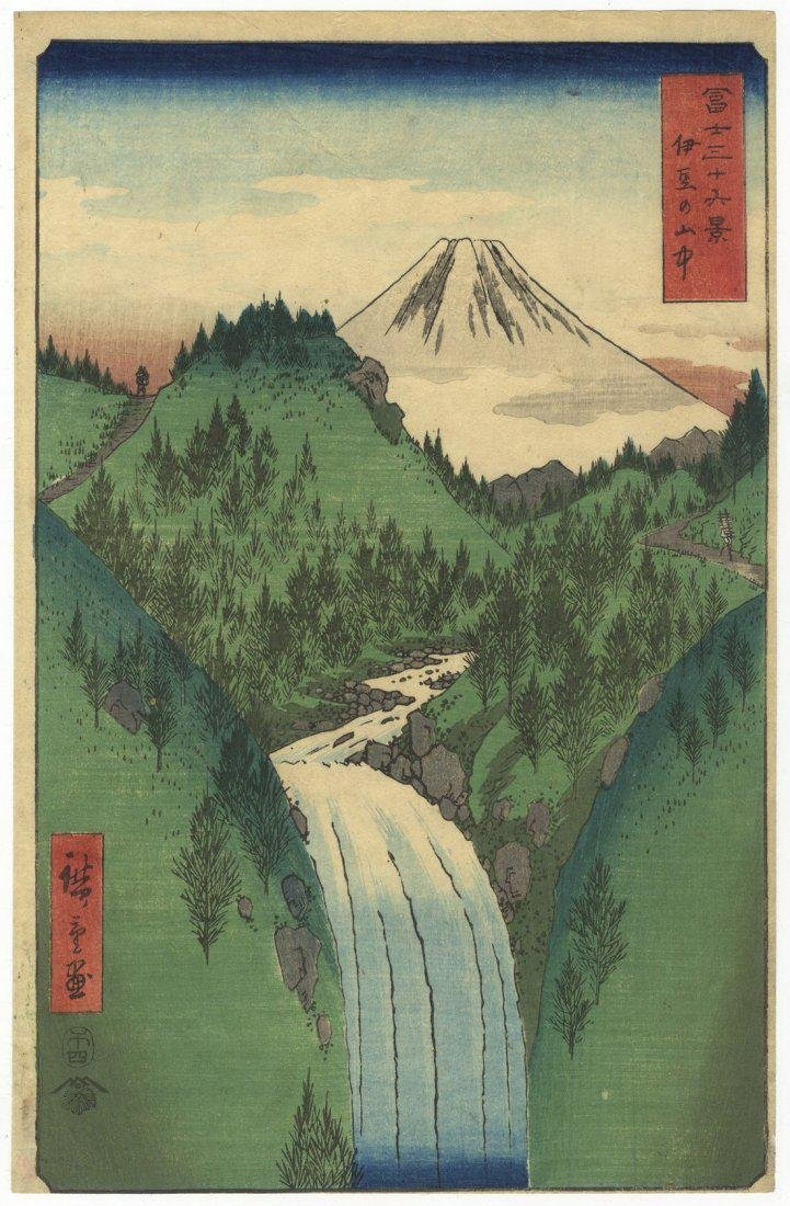 Ando Hiroshige Woodblock 22. The Izu Mountains
