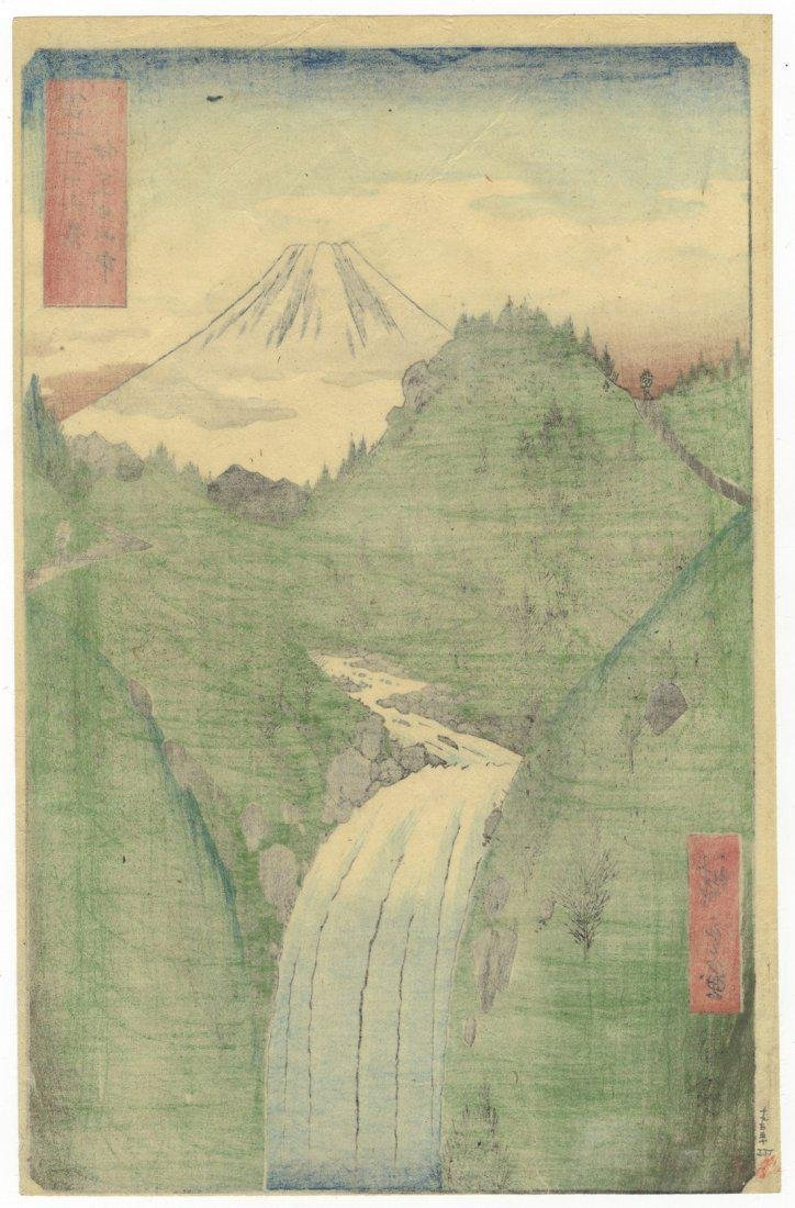 Ando Hiroshige Woodblock 22. The Izu Mountains - 2