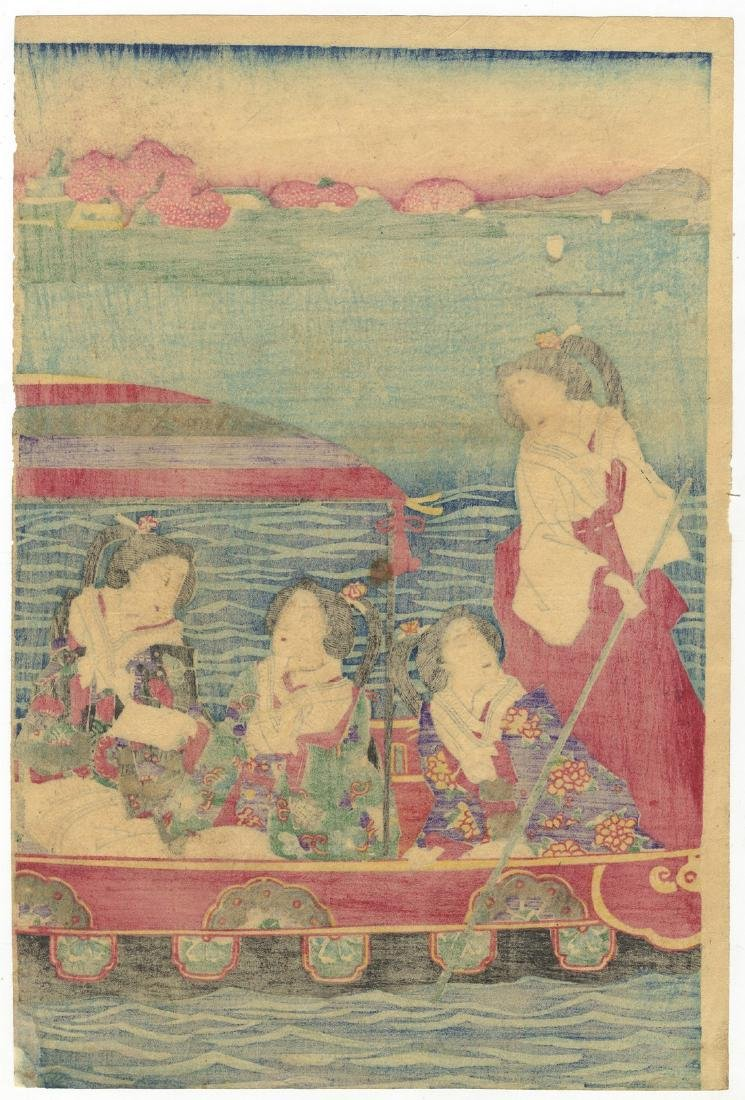 Chikashige Morikawa Woodblock Beauties Cherry Blossoms - 4