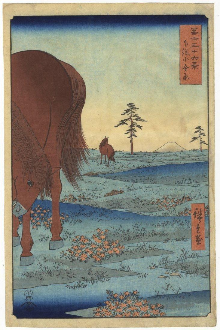 Ando Hiroshige Woodblock 33 Kogane Plain Shimosa