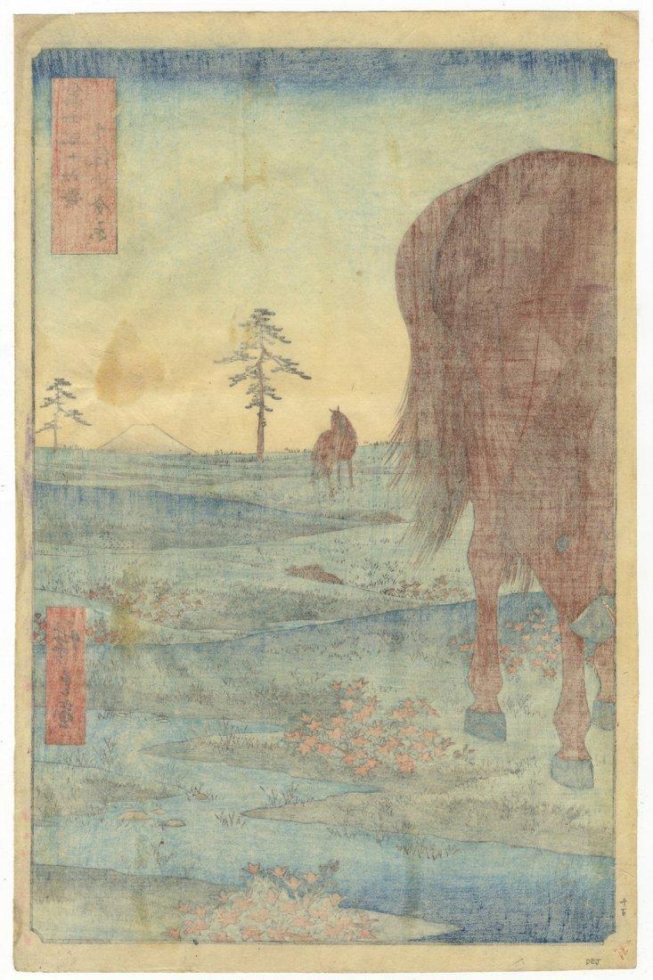 Ando Hiroshige Woodblock 33 Kogane Plain Shimosa - 2