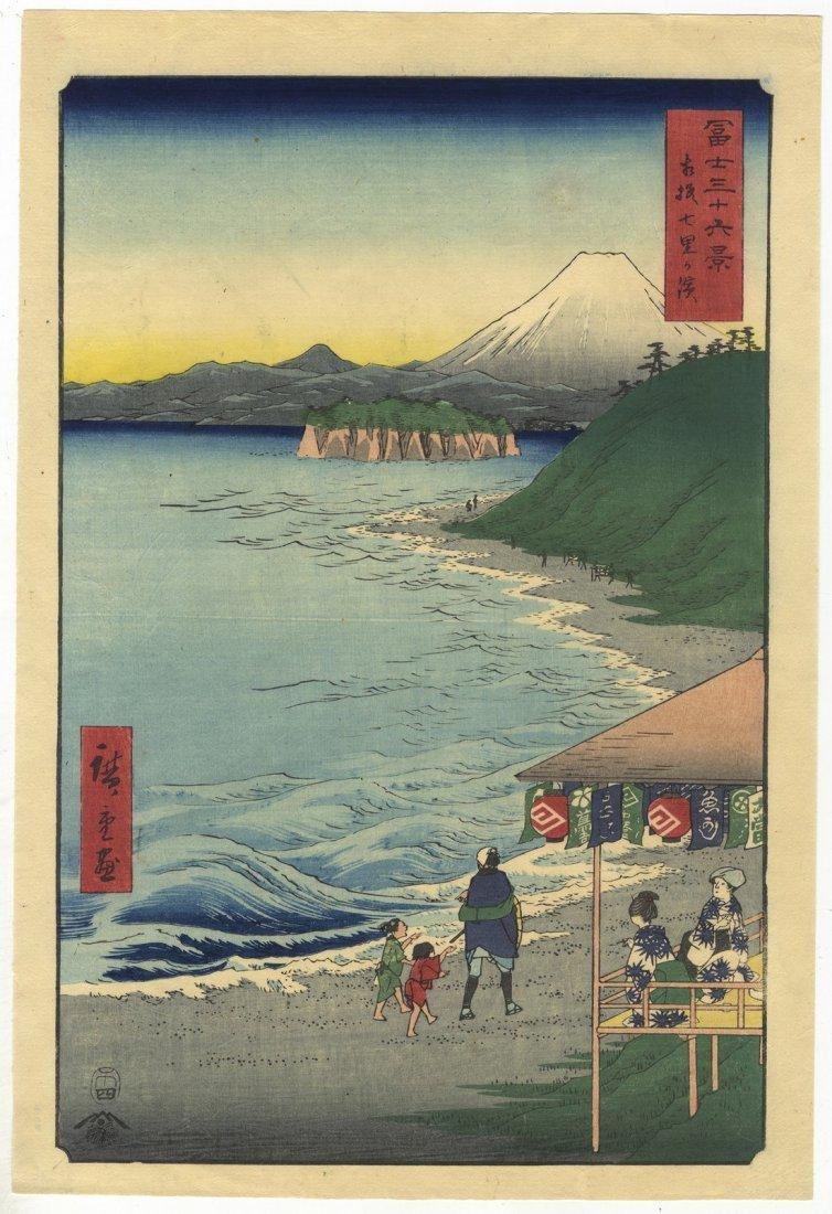 Ando Hiroshige Woodblock 14 Shichiri Bay Sagami