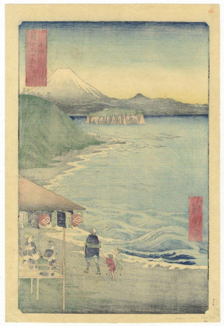 Ando Hiroshige Woodblock 14 Shichiri Bay Sagami - 2
