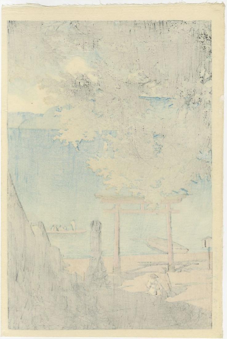 Hasui Kawase Woodblock Chuzenji, Utagahama - 2