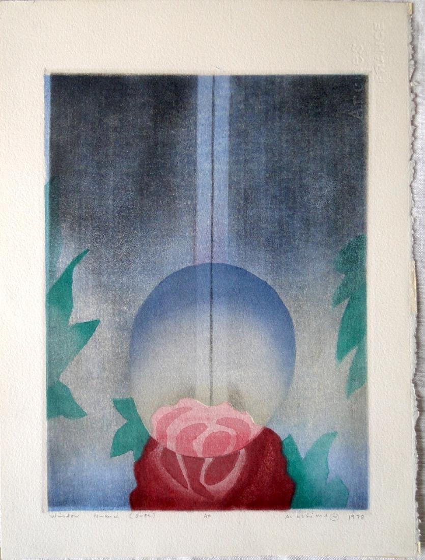 Ansei Uchima Woodblock Window Nuance Rose