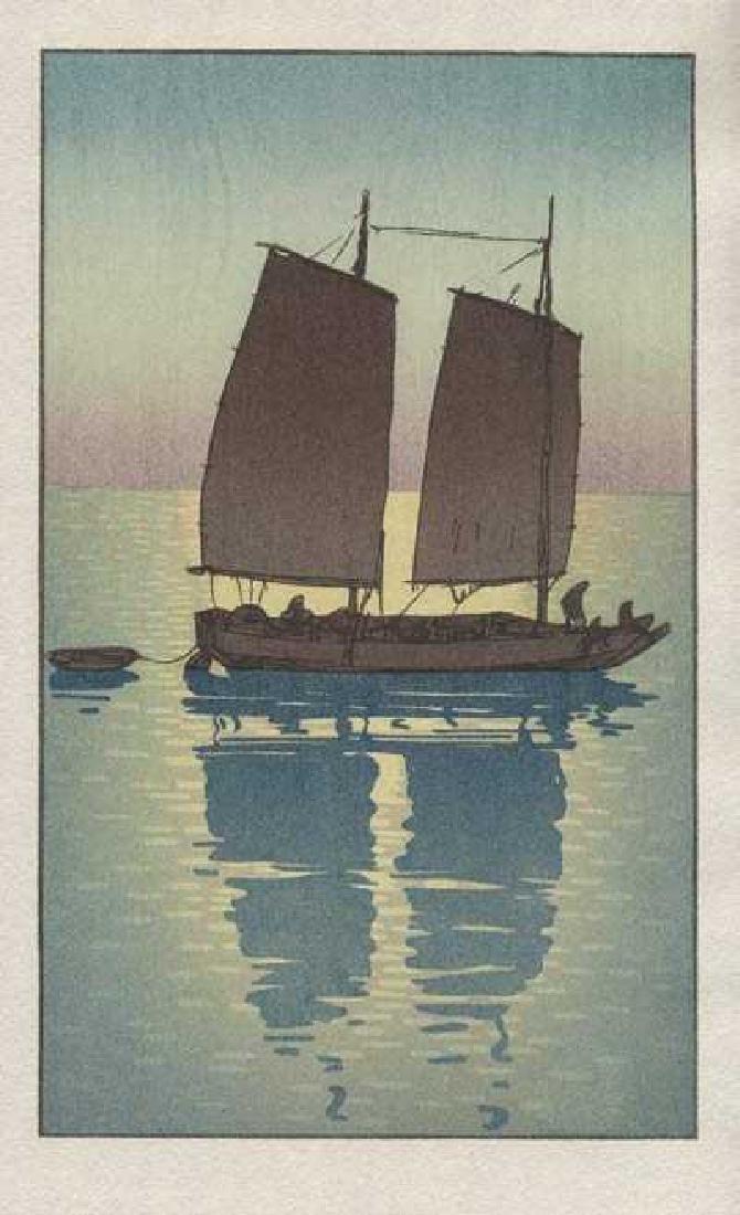 Hiroshi Yoshida, After Woodblock Sailing Boat Day