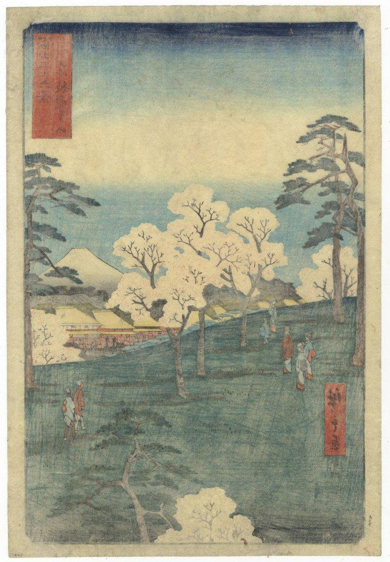 Ando Hiroshige Woodblock 8 Mt Asuka in Eastern Capital - 2