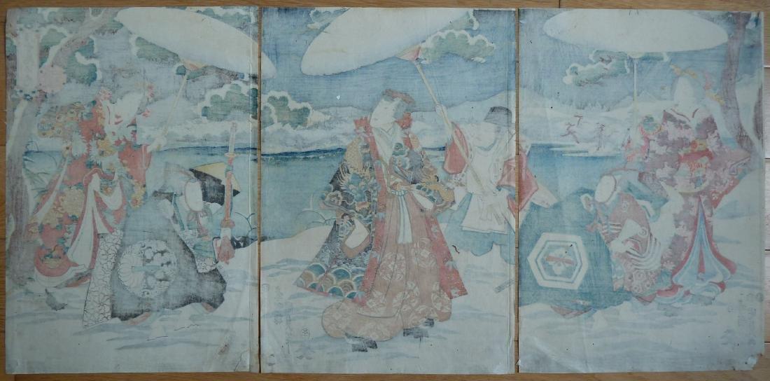 Utagawa Kunisada Toyokuni III Woodblock Snow - 5