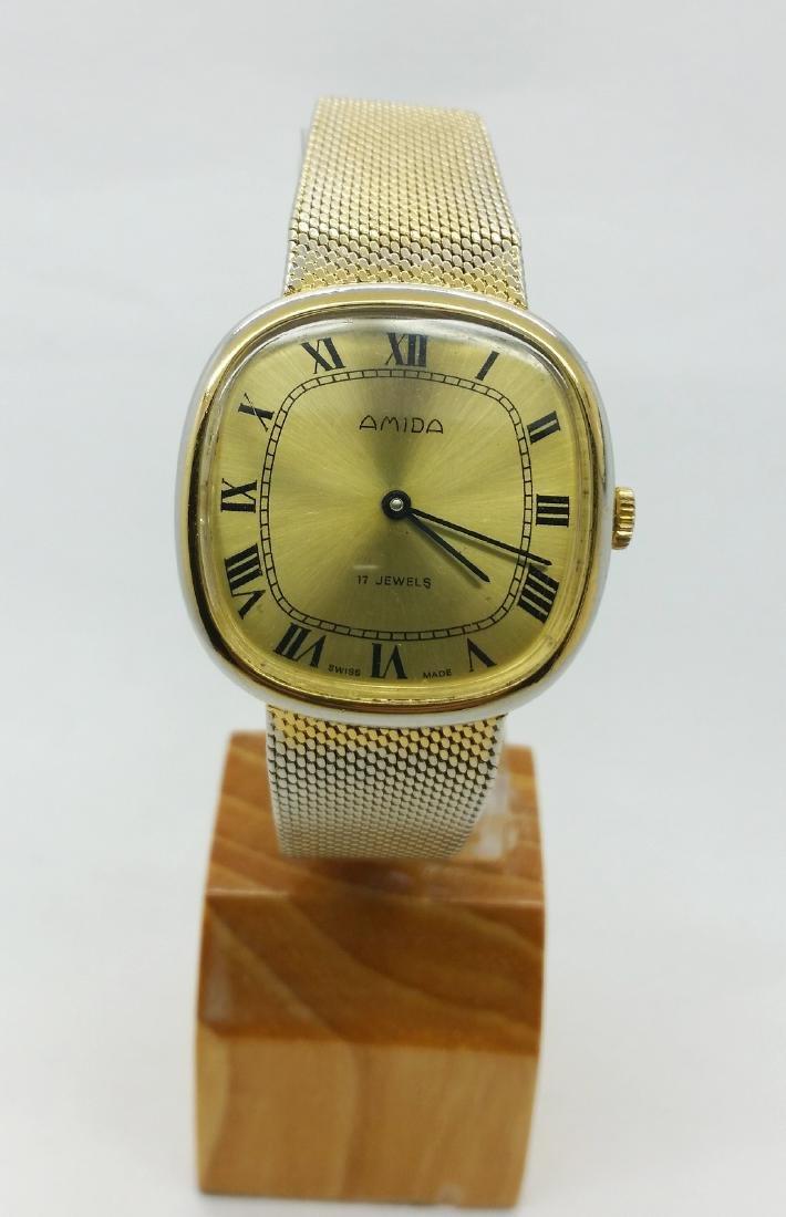 1950s Amida Swiss vintage wristwatch