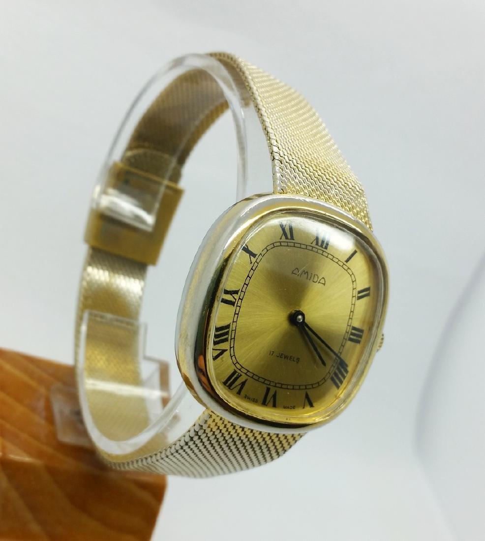 1950s Amida Swiss vintage wristwatch - 3