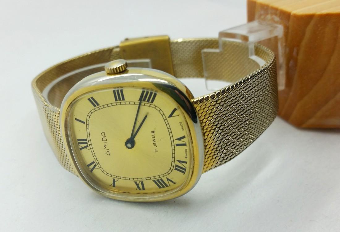 1950s Amida Swiss vintage wristwatch - 4