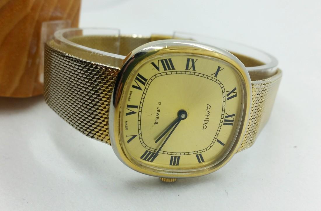 1950s Amida Swiss vintage wristwatch - 5