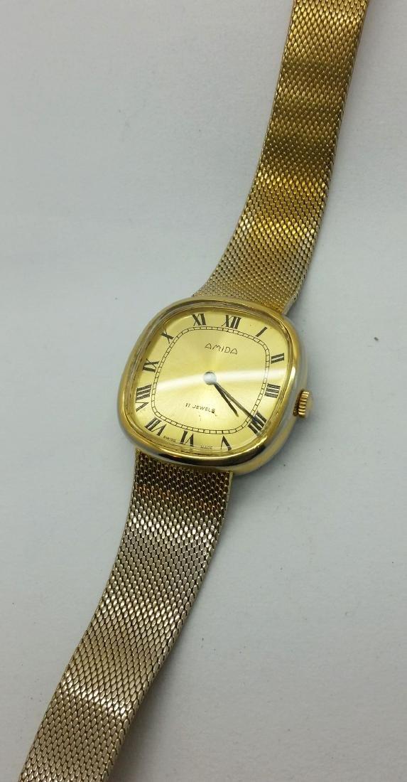 1950s Amida Swiss vintage wristwatch - 9