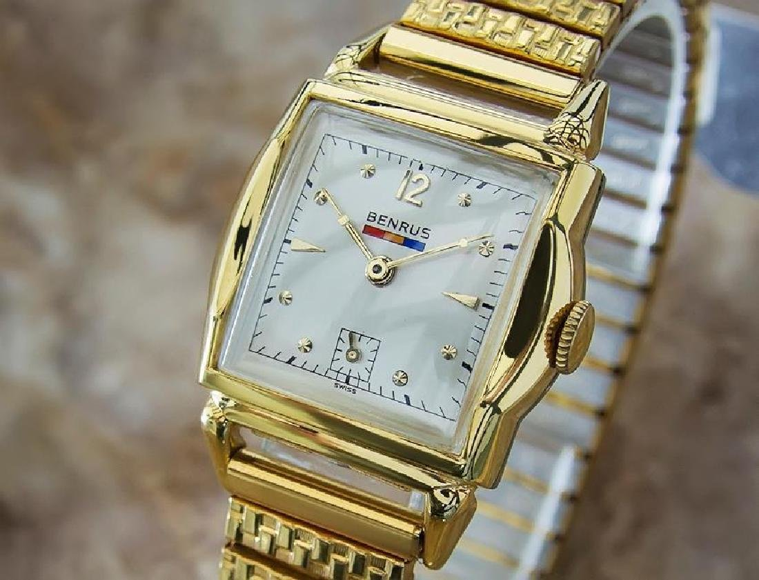 Benrus 1940s Swiss Made Gold Plated Unisex Ladies