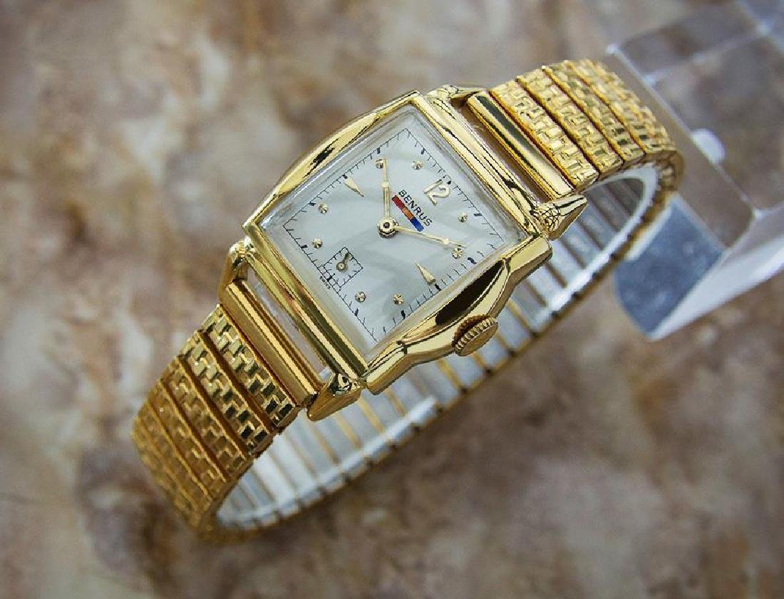 Benrus 1940s Swiss Made Gold Plated Unisex Ladies - 2