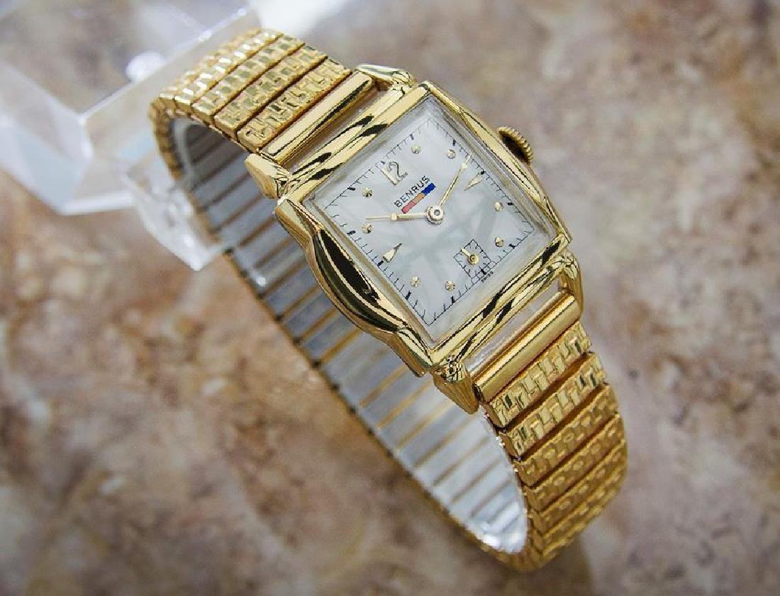 Benrus 1940s Swiss Made Gold Plated Unisex Ladies - 3