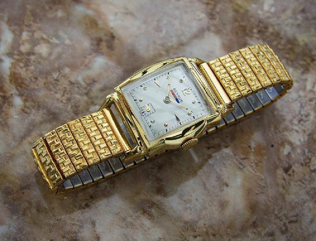 Benrus 1940s Swiss Made Gold Plated Unisex Ladies - 6