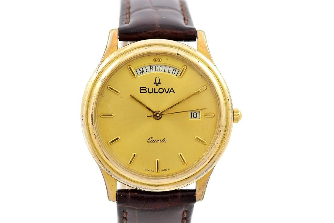 Vintage Bulova Classic Gold Plated Midsize Quartz Watch