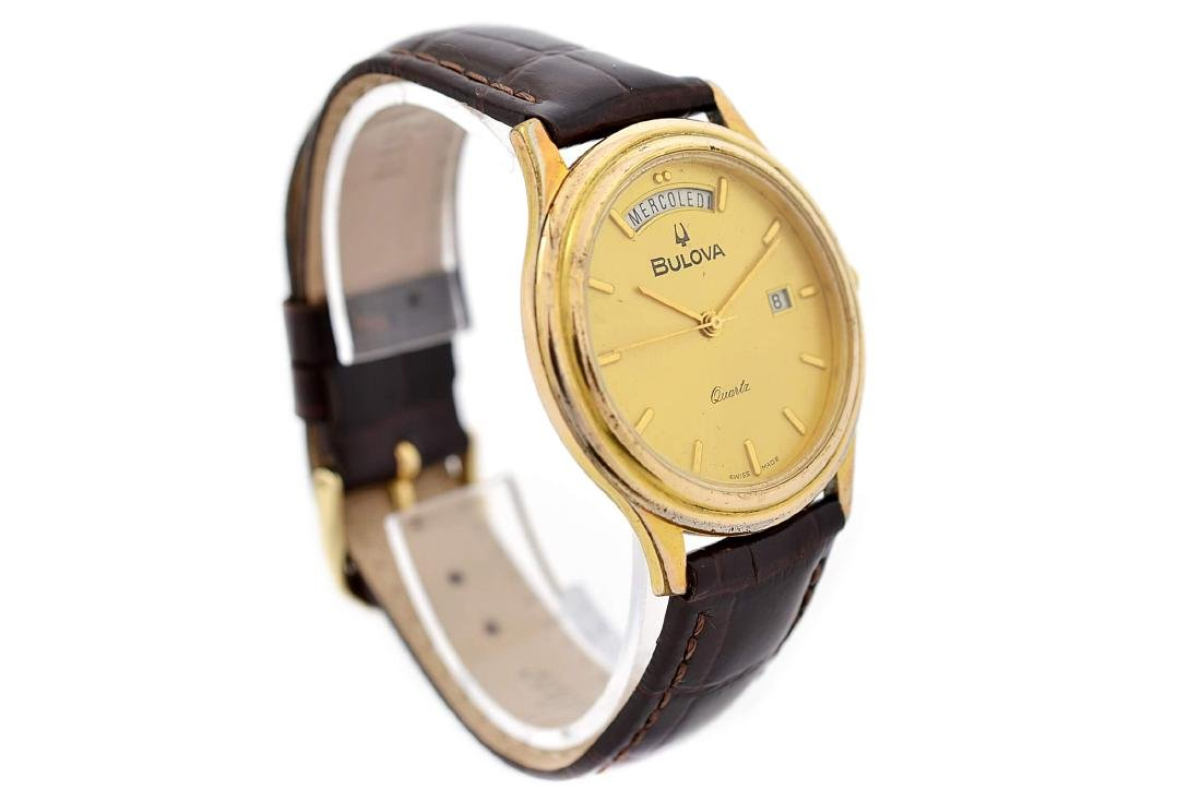 Vintage Bulova Classic Gold Plated Midsize Quartz Watch - 2