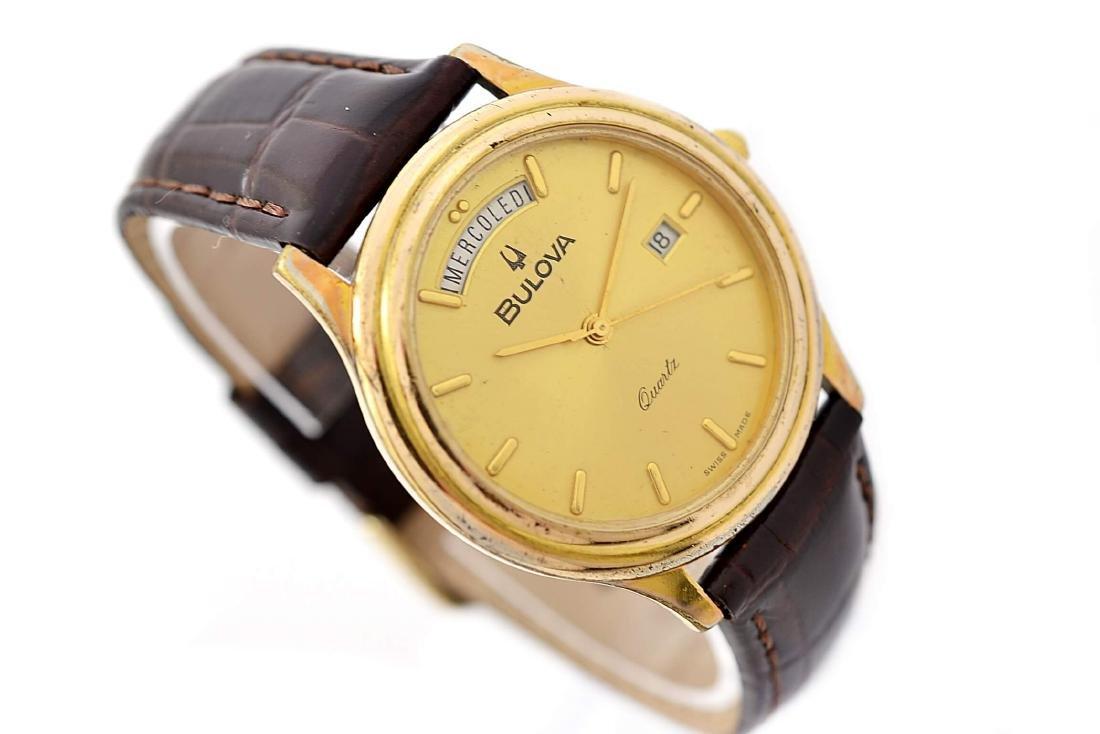 Vintage Bulova Classic Gold Plated Midsize Quartz Watch - 3